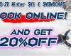 Online Booking 20%OFF